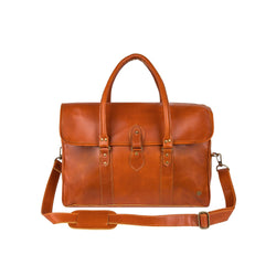 Large Tan English Saddle Leather Holdall | Personalised
