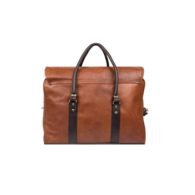 Two-Tone Strapped Weekender