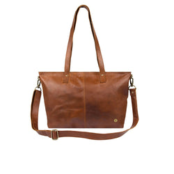 Leather Tote Bag For Work, College, and School, by MAHI