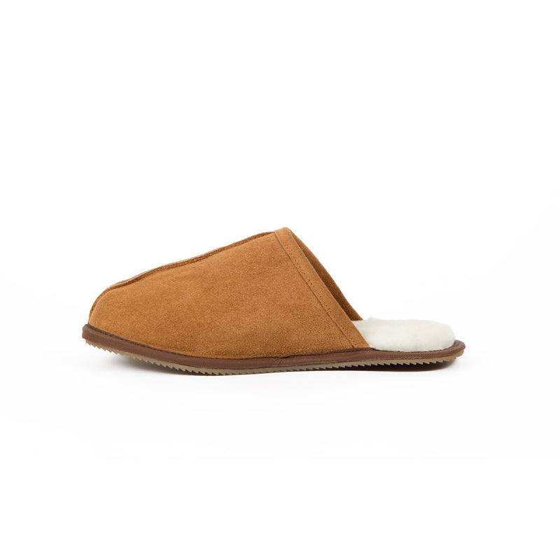Men's Tan Sheepskin Slippers