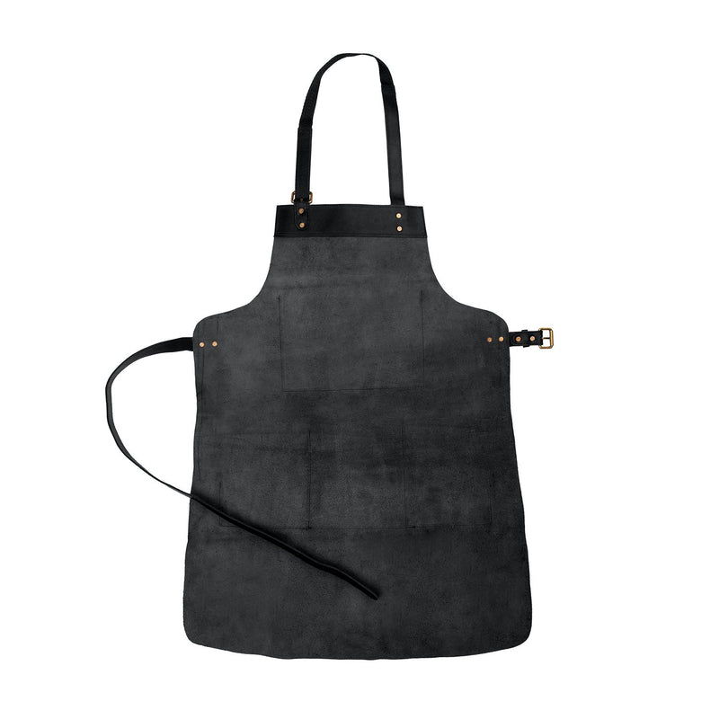 Multi-Pocket Leather Apron