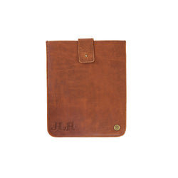 Personalised Brown Full Grain Leather iPad or Tablet Sleeve