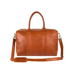 Small Leather Weekend Holdall | Personalised Compact Weekender