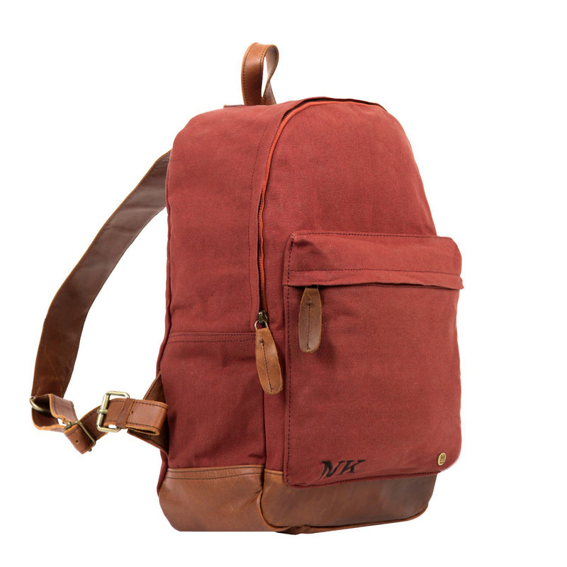 Red Canvas Rucksack