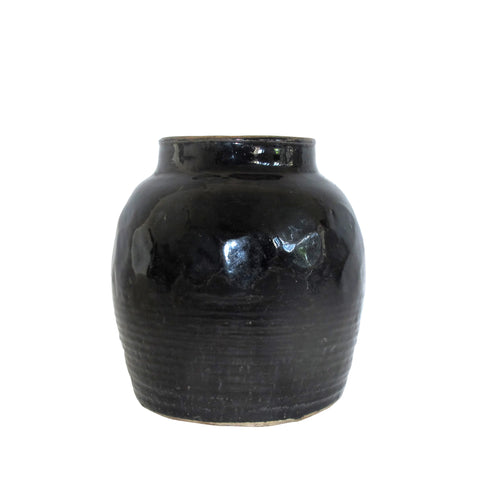 BLACK JAR ANTIQUE LARGE