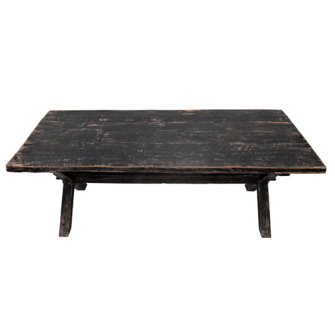 CROSS BLACK GLOSS DINING TABLE SMALL