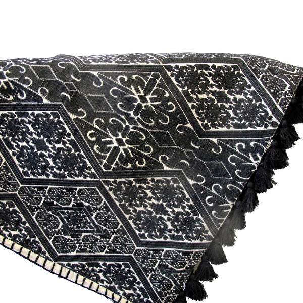 SAND TRIBAL EMBRODEIRY BED COVER