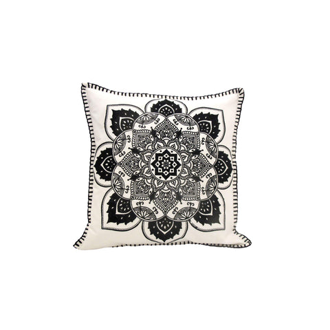 BLACK MANDALA CUSHION
