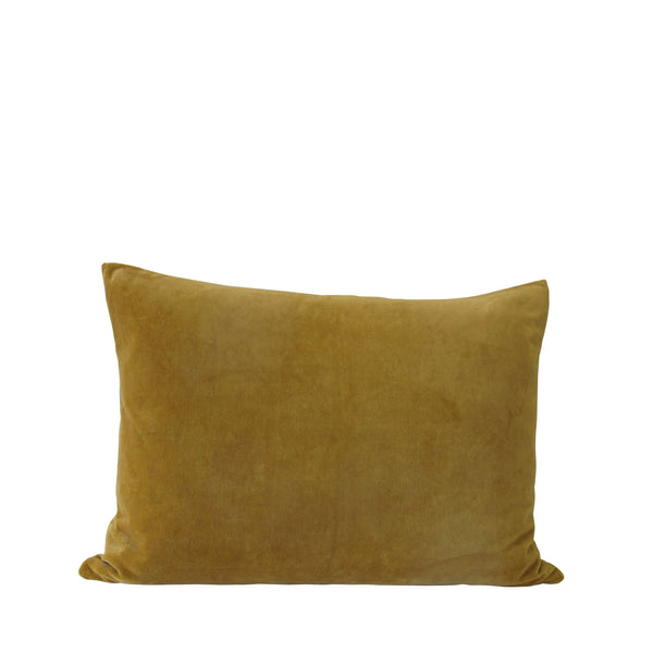 MUSTARD VELVET CUSHION LARGE