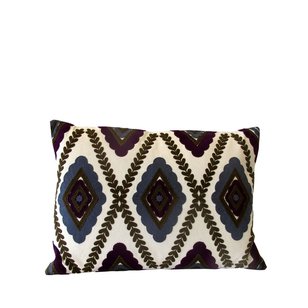 HARLEQUIN CUSHION PURPLE