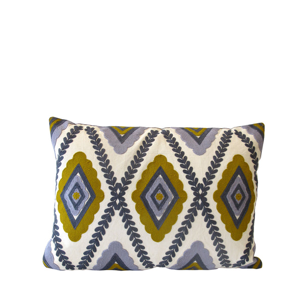 HARLEQUIN CUSHION MUSTARD