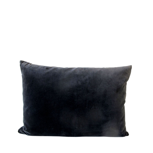 GREY VELVET CUSHION LARGE