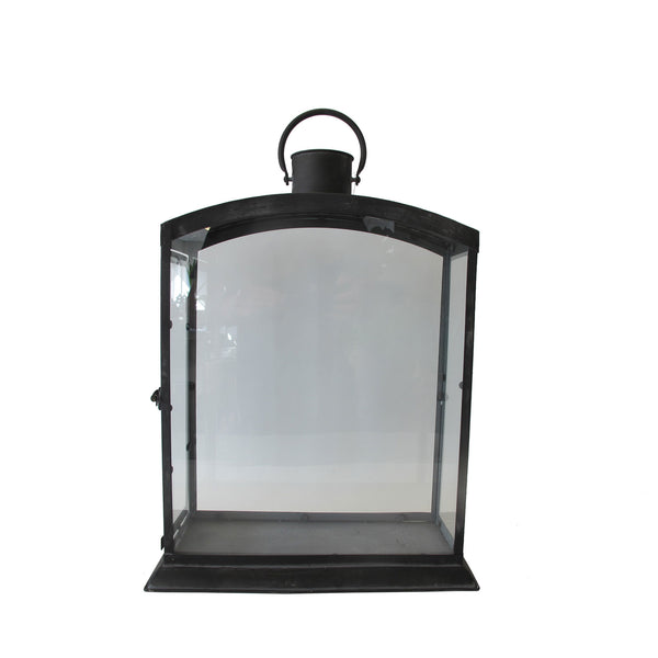 GREY GLASS LANTERN