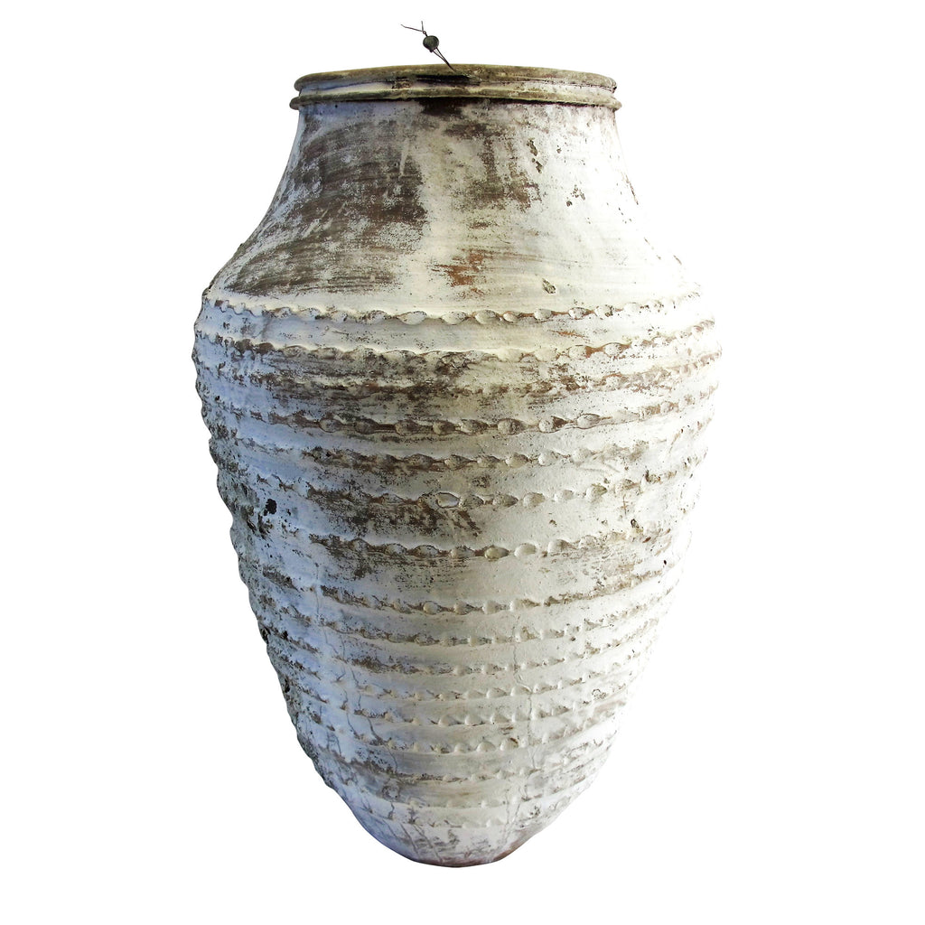 White old odemis urn small