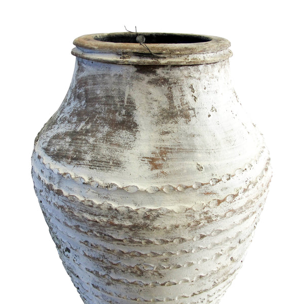 White old odemis urn large