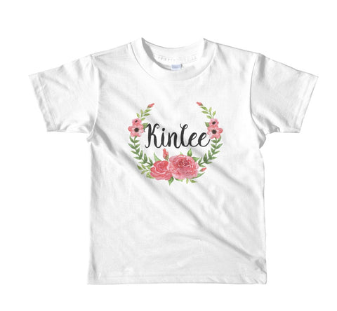 Pink Roses Personalized Tee (Kids)