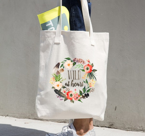 Wild at Heart Canvas Tote Bag