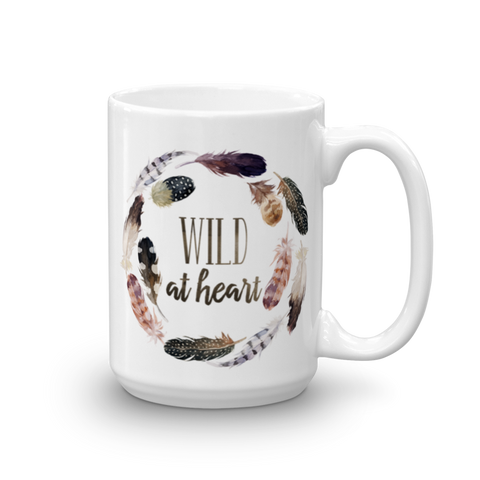 Wild At Heart Feathers Ceramic Mug