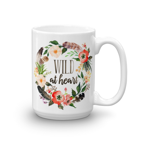 Wild At Heart Floral Ceramic Mug