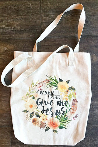 Give Me Jesus Canvas Tote Bag