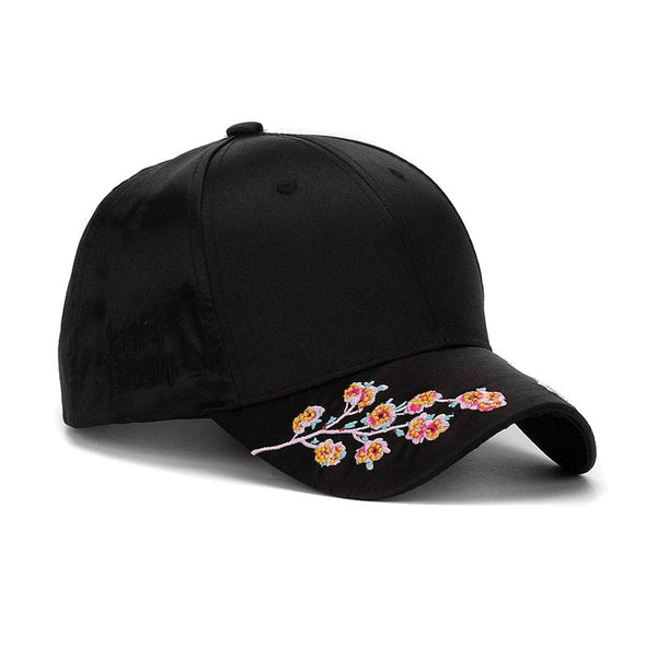 Hyperest Embroidered Blossom Brim Cap