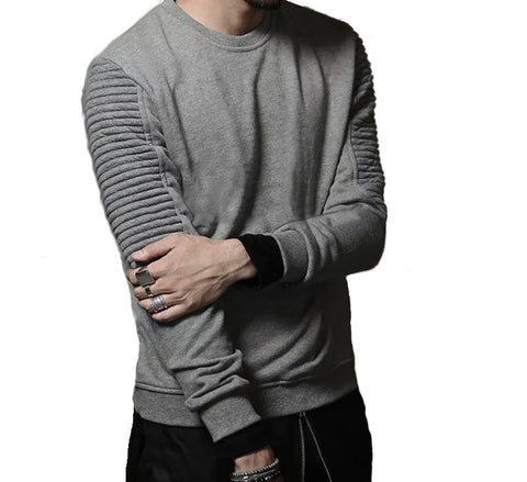 Hyperest Biker Panel Sleeve Sweater
