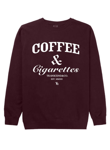 Coffee and Cigarettes Cocaine and Caviar Crewneck
