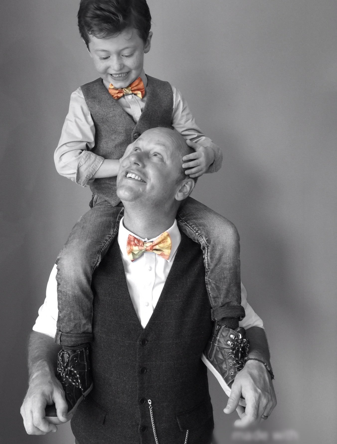 Father and Son colourful bow tie sets 'Milo'