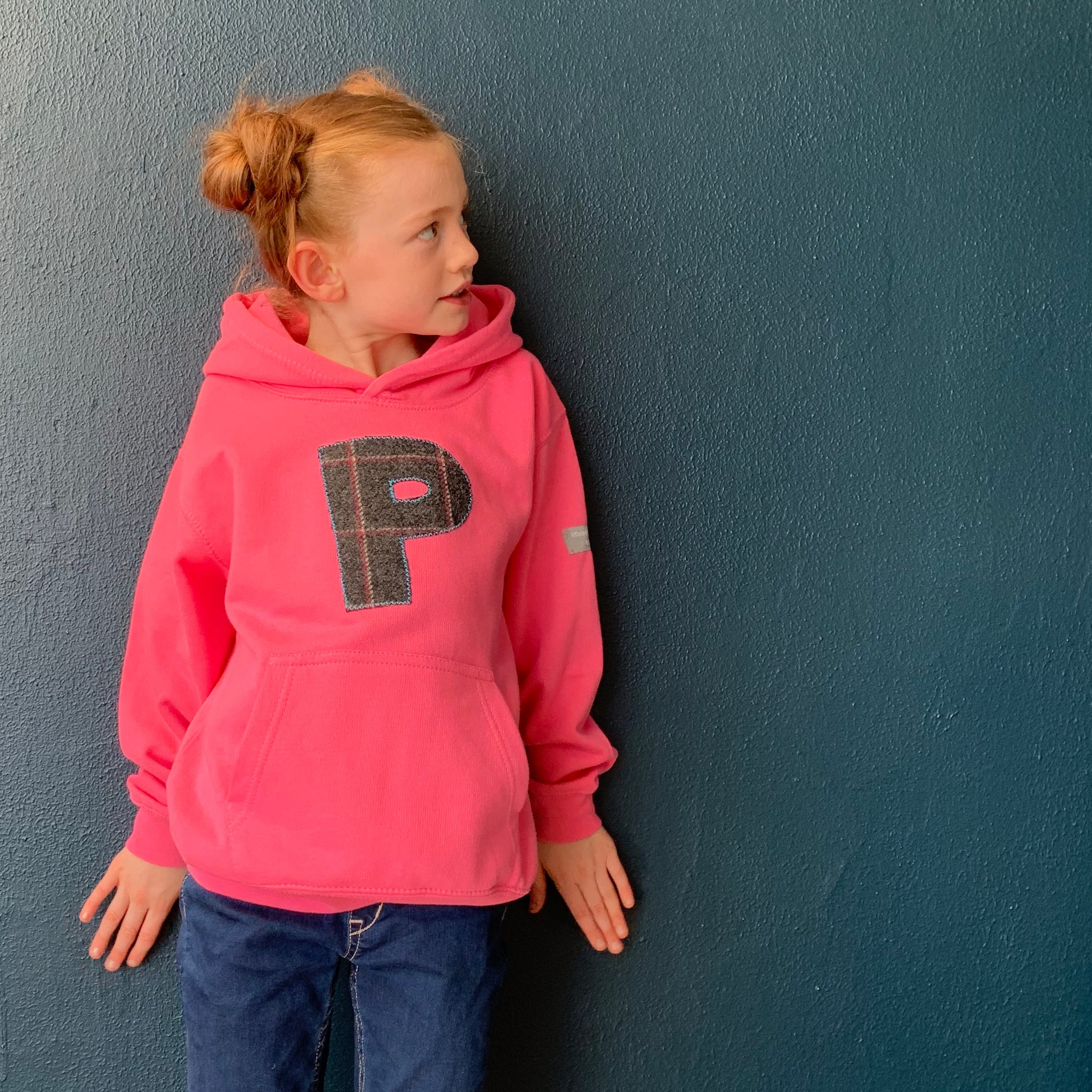 personalised hoodies, boys hoodies, girls hoodie, personalised gifts, design your own hoody - pink personalised initial hoodies