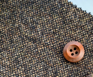 Custom order - Boys waistcoat handmade in brown British Tweed