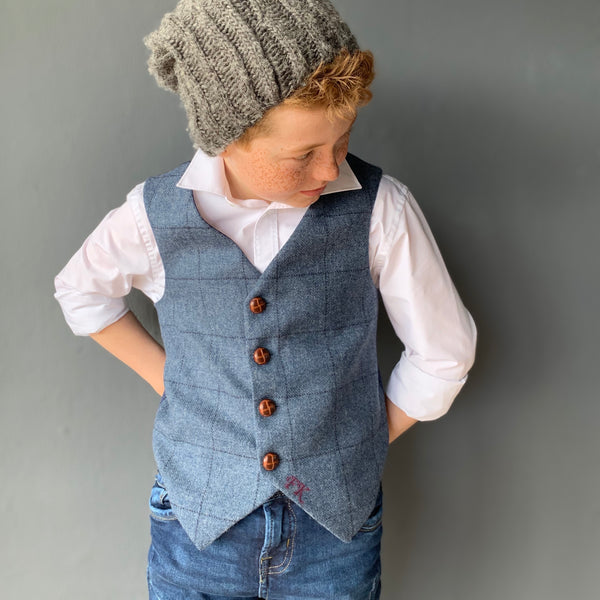 'Earl of Grantham' mens waistcoat handmade in a 100% British tweed