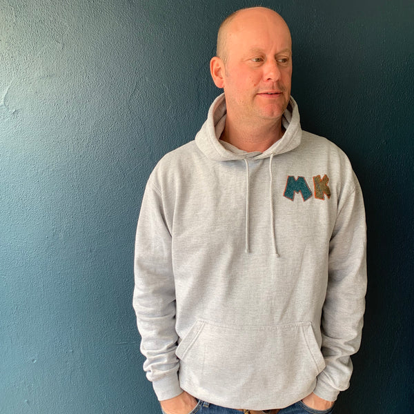 personalised hoodies, boys hoodies, girls hoodie, personalised gifts, design your own hoody - grey personalised initial hoodies