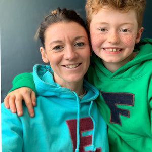 personalised hoodies, boys hoodies, girls hoodie, personalised gifts, design your own hoody - turquoise personalised initial hoodies