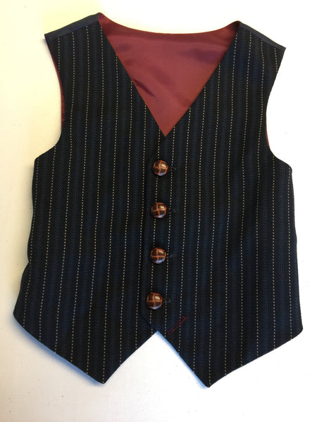 sample Boys waistcoat 5-6yrs in a stripe 'wall street '