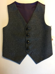 sample Boys waistcoat 5-6 yrs in grey wool 'Noah '