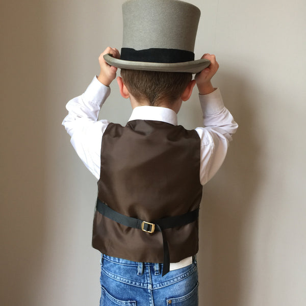 Boys waistcoat, British Tweed waistcoat, pageboy outfit, boys clothing, green check waistcoat - Lord M