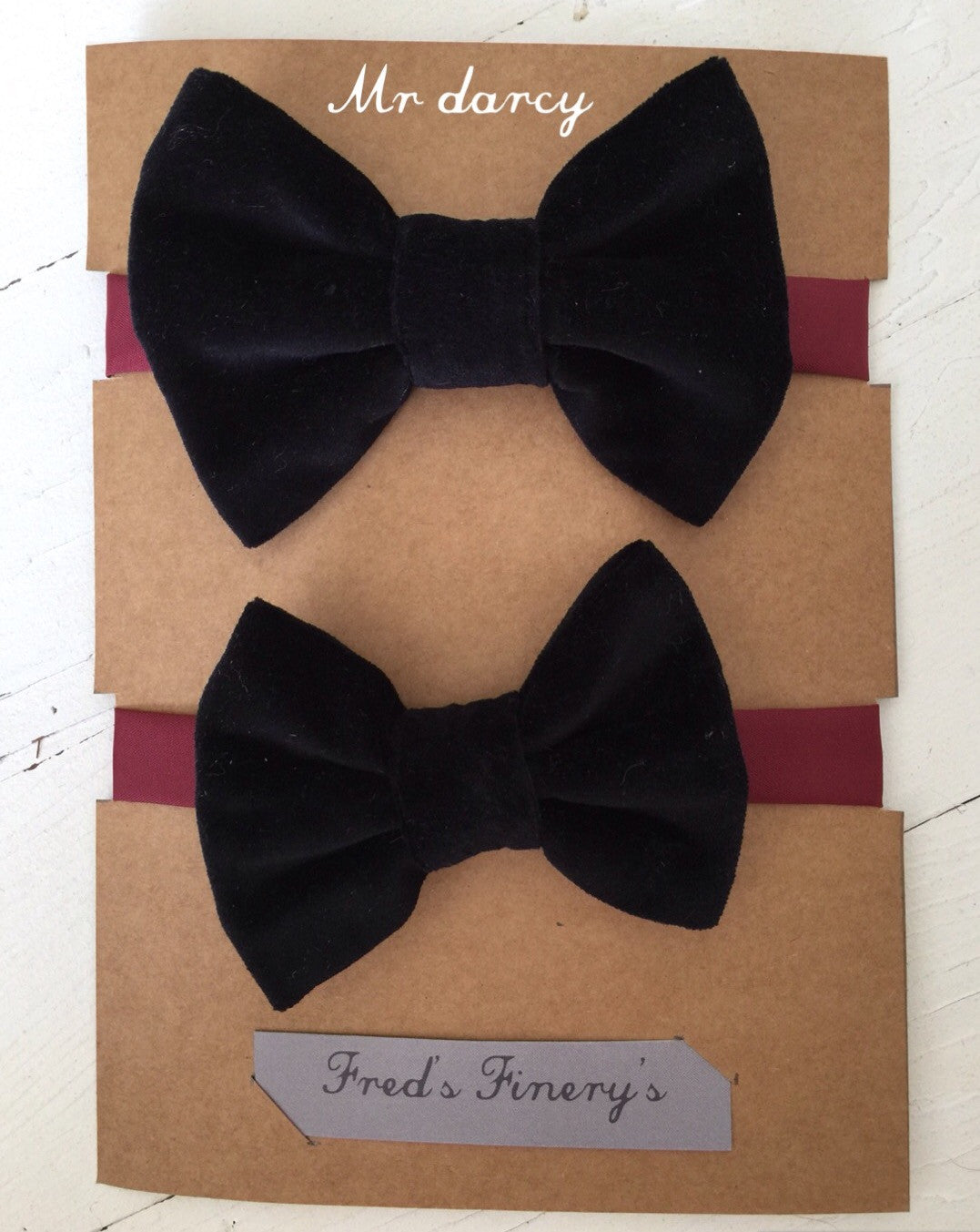 Father and Son velvet bow tie sets