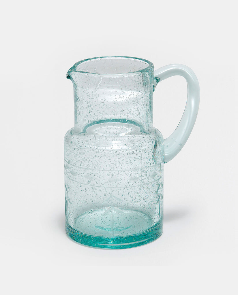Mint Glass Pitcher