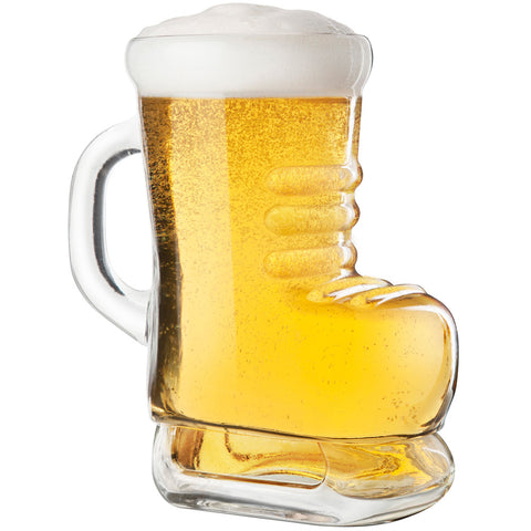 Skate beer boot glass