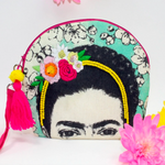 Frida Kahlo Emrboidered make up bag