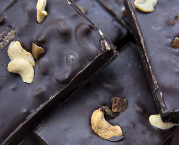 Dark Chocolate with Cashew Nuts and Dates