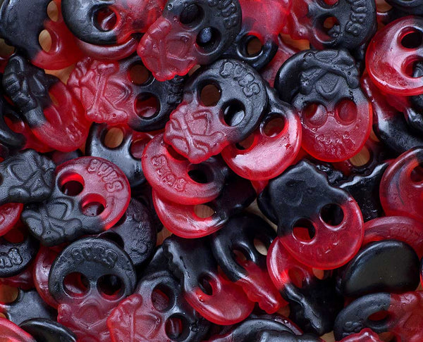 Raspberry and Licorice Skulls Sugar Free