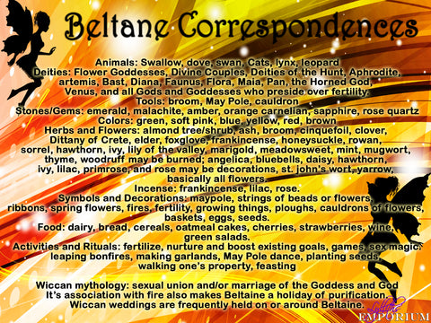 Beltane Correspondences what to do for Beltane