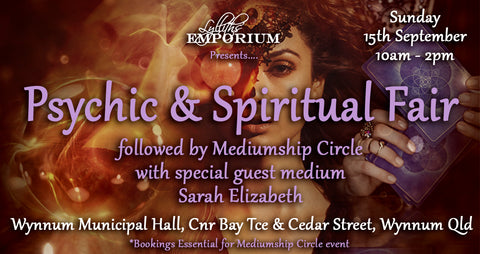 Psychic & Spiritual Fair - Wynnum, Qld 15th September 2019