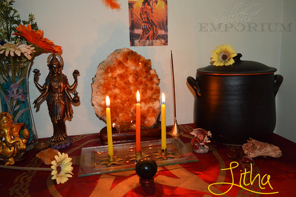 Litha family altar Summer Solstice 2016