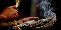 smudging with sage traditional energy clearing