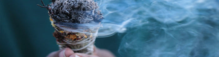 smudging and spiritual clearing supplies
