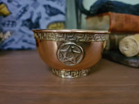 Copper Offering Bowl - pentagram