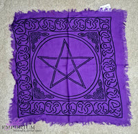 Purple Pentacle Altar Cloth