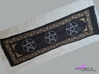 Triple Pentagram Altar Cloth Table Runner